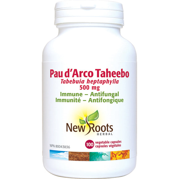 New Roots Pau d'Arco 500mg 100 Capsules