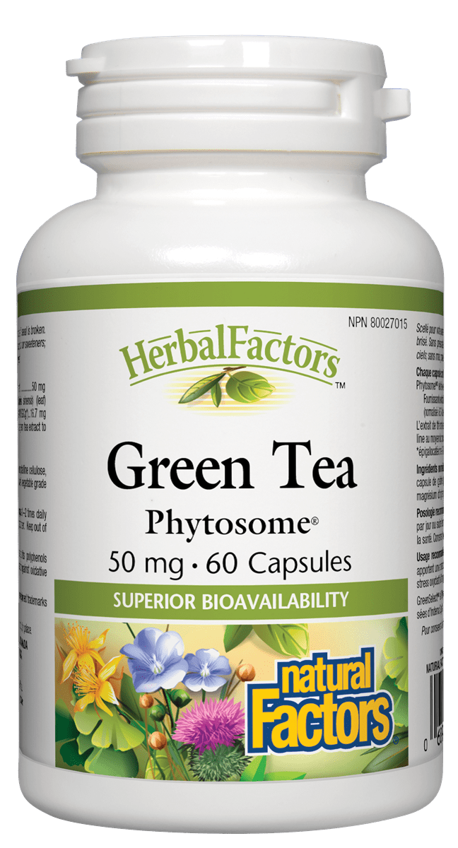 Natural Factors Green Tea Phytosome 50mg 60 Capsules