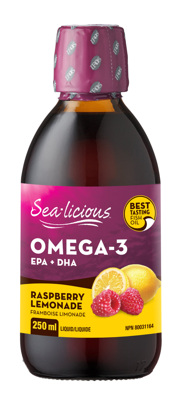 Sealicious Omega 3 Raspberry Lemonade 250ml