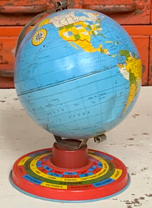 Metal Globe with Zodiac Signs