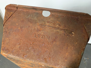 Industrial metal tray