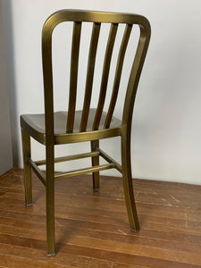 Metal Side Chair - Gold Color
