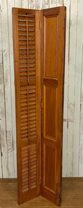 Thirteen Wood Shutters - Hinged Pair