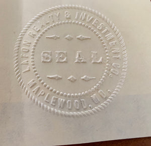 Maplewood Lafon Realty & Invest Company Seal Stamp