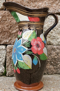 Vintage old Mexican red clay pitcher or vase