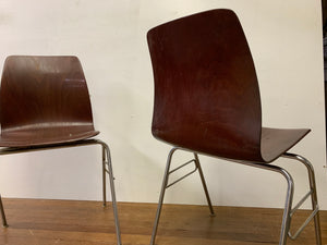 Bentwood Chair with Chrome Legs