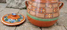 Load image into Gallery viewer, Vintage Old Mexican Lidded Bean Pot. Red Clay.
