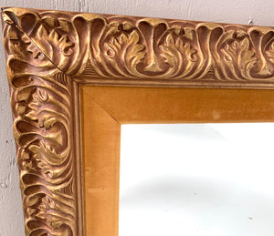 Large Mirror with Gold Frame
