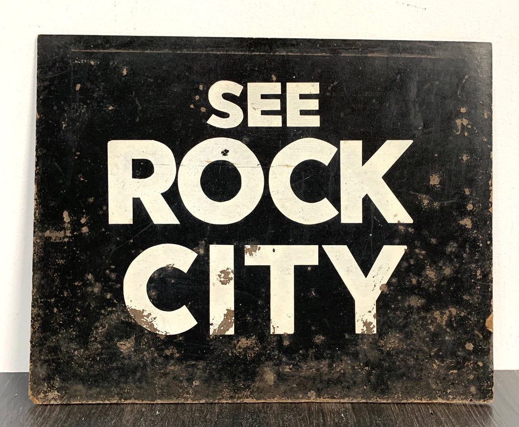 See Rock City Sign on Board