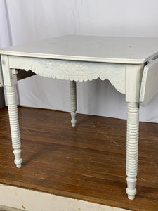 Painted Dining Table with Gingerbread Details