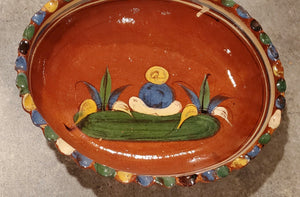 Mexican Red Clay Oval Nesting Bowls Set of 4