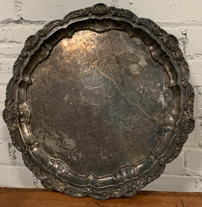 Footed Silver Plate Tray