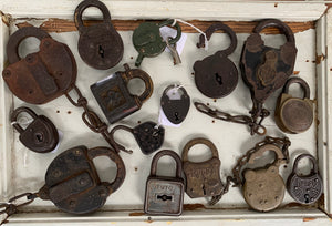 Collection of 15 Padlocks