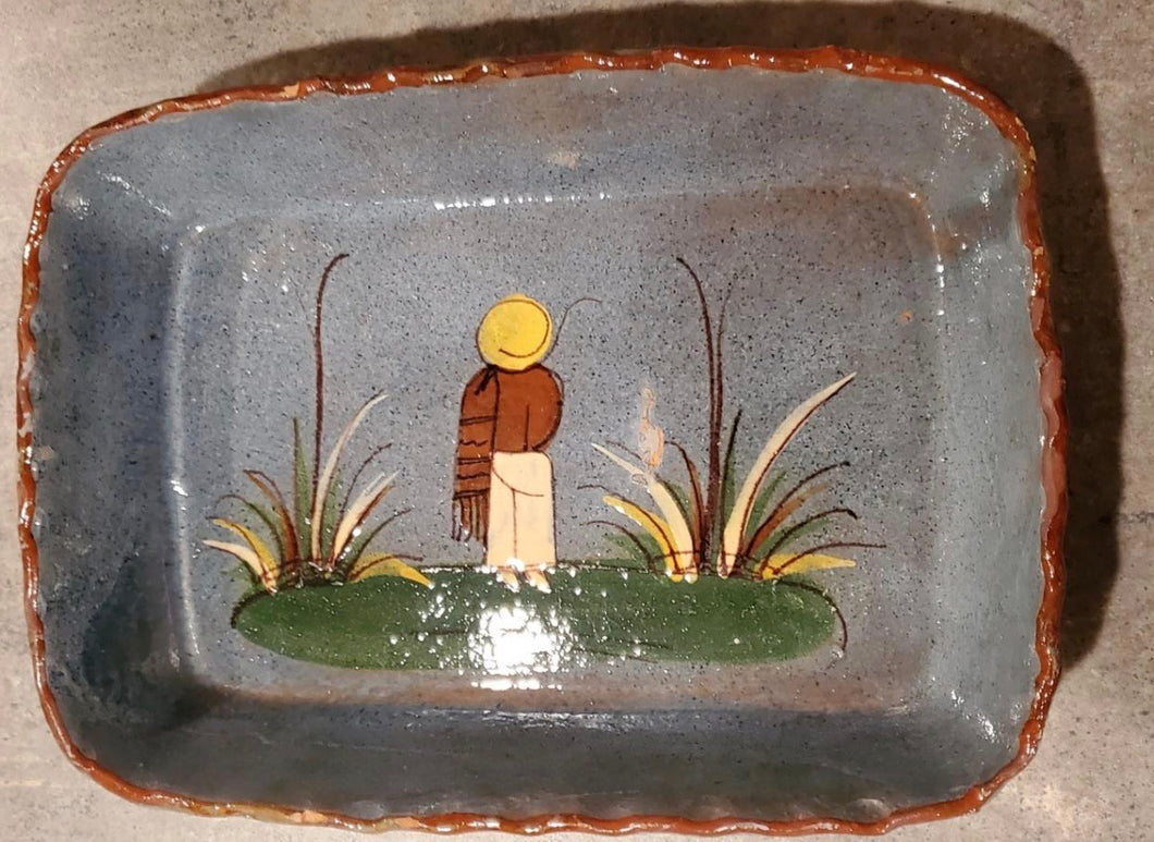 Mid-Century Tlaquepaque style Mexican red clay rectangular bowl