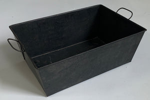 Metal bin with handles