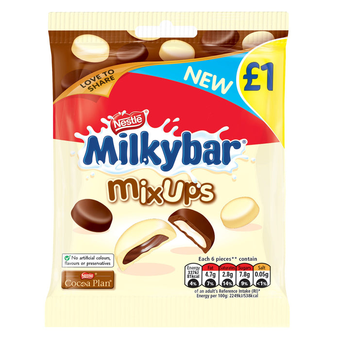 Milkybar Mix Ups White & Milk Chocolate Sharing Bag