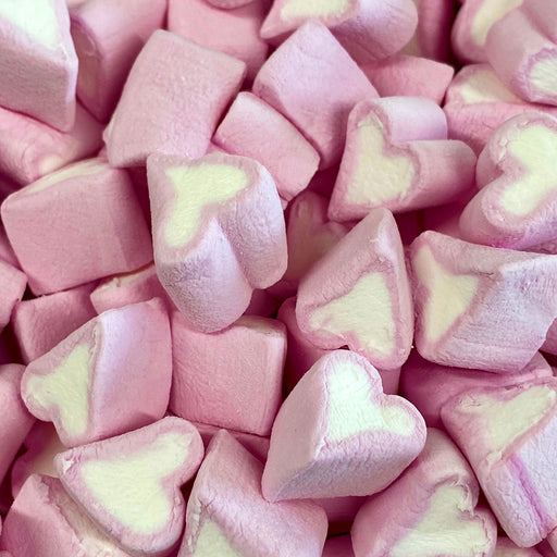 Kingsway Pink & White Mini Heart Mallows