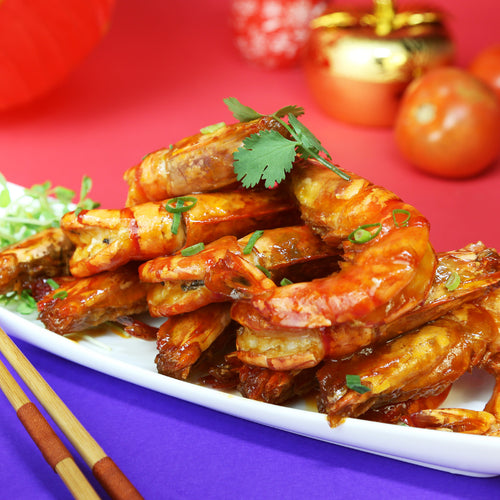 茄汁煎大蝦 Stir-fried Ketchup Prawns ~ 10pcs - FEAST
