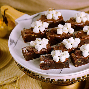 朱古力山核桃布朗尼伴榛子醬及棉花糖 Chocolate Brownies With Pecan, Nutella And Marshmallow ~500g - FEAST