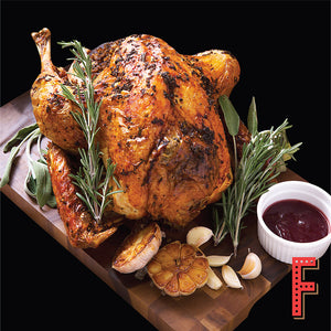 Roasted Turkey With Cranberry Sauce And Turkey Glaze 香草烤火雞配紅莓醬及香濃火雞肉汁 - FEAST