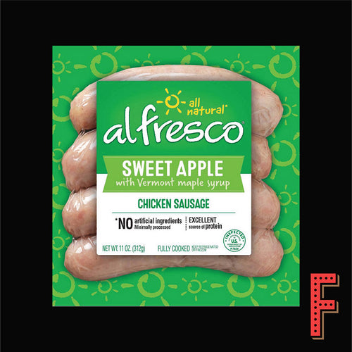 美國 AL FRESCO 甜蘋果雞肉腸仔 (急凍) US AL FRESCO Cooked Sweet Apple Chicken Sausage (Frozen) ~310g - FEAST