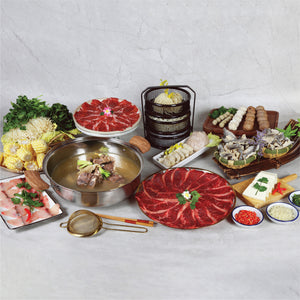招牌牛魔王火鍋套餐 (4-10人) Signature Beef Shank & Tendon Hot Pot Set (4-10 Persons) - FEAST