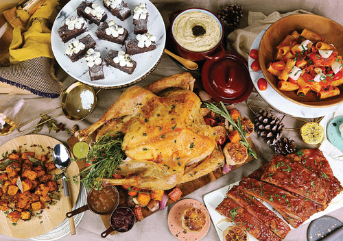 Turkey Party Set 香草烤火雞派對套餐 (Includes 2 Main Courses, 3 Side Dishes And 1 Dessert 包括2主菜, 3配菜及1甜品) (Serves 8-10 Persons / 8-10 人份量) - FEAST