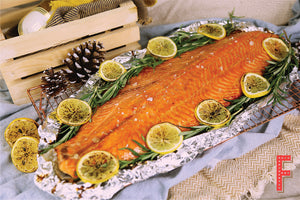 Salmon Party Set 三文魚派對套餐 (Includes Main Course, Meat, Side Dish And Dessert 包括主菜,肉類, 配菜及甜品) (Serves 8-10 Persons / 8-10 人份量) - FEAST