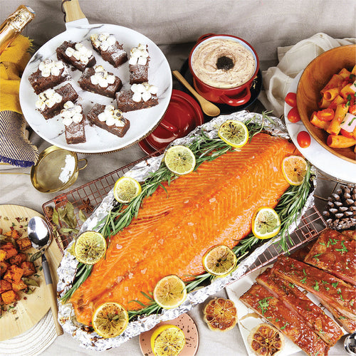 Salmon Party Set 香烤三文魚柳派對套餐 (Includes Main Course, 2 Side Dishes And Dessert 包括主菜, 2配菜及甜品) (Serves 4-6 Persons / 4-6 人份量) - FEAST