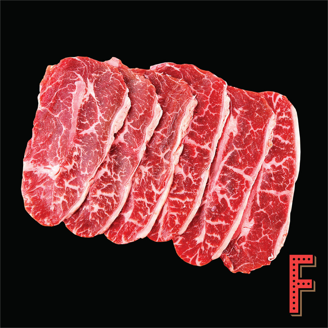 USDA Prime Top Blade SLICE (Frozen) 美國極佳級牛板腱片 (急凍) ~ 500 Grams / 18 Ounces - FEAST