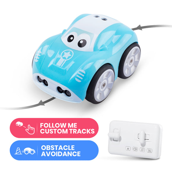 DEERC DE33 Mini RC Car Inductive Toy Car For Children Remote Control Car Auto Follow Tracks Obstacle Avoidance RC Toys For Kids