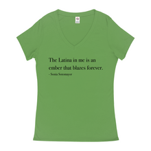 Load image into Gallery viewer, Latina Ember VNeck T-Shirts