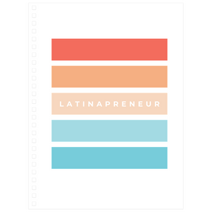 Color Stripes Latinapreneur Spiral Notebook