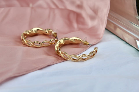 Gold Twist Earrings