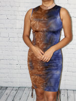 Load image into Gallery viewer, Yanet Dress - Blue/Taupe