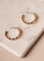 Load image into Gallery viewer, Gold Twist Earrings