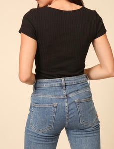 Elena Crop Top - Black