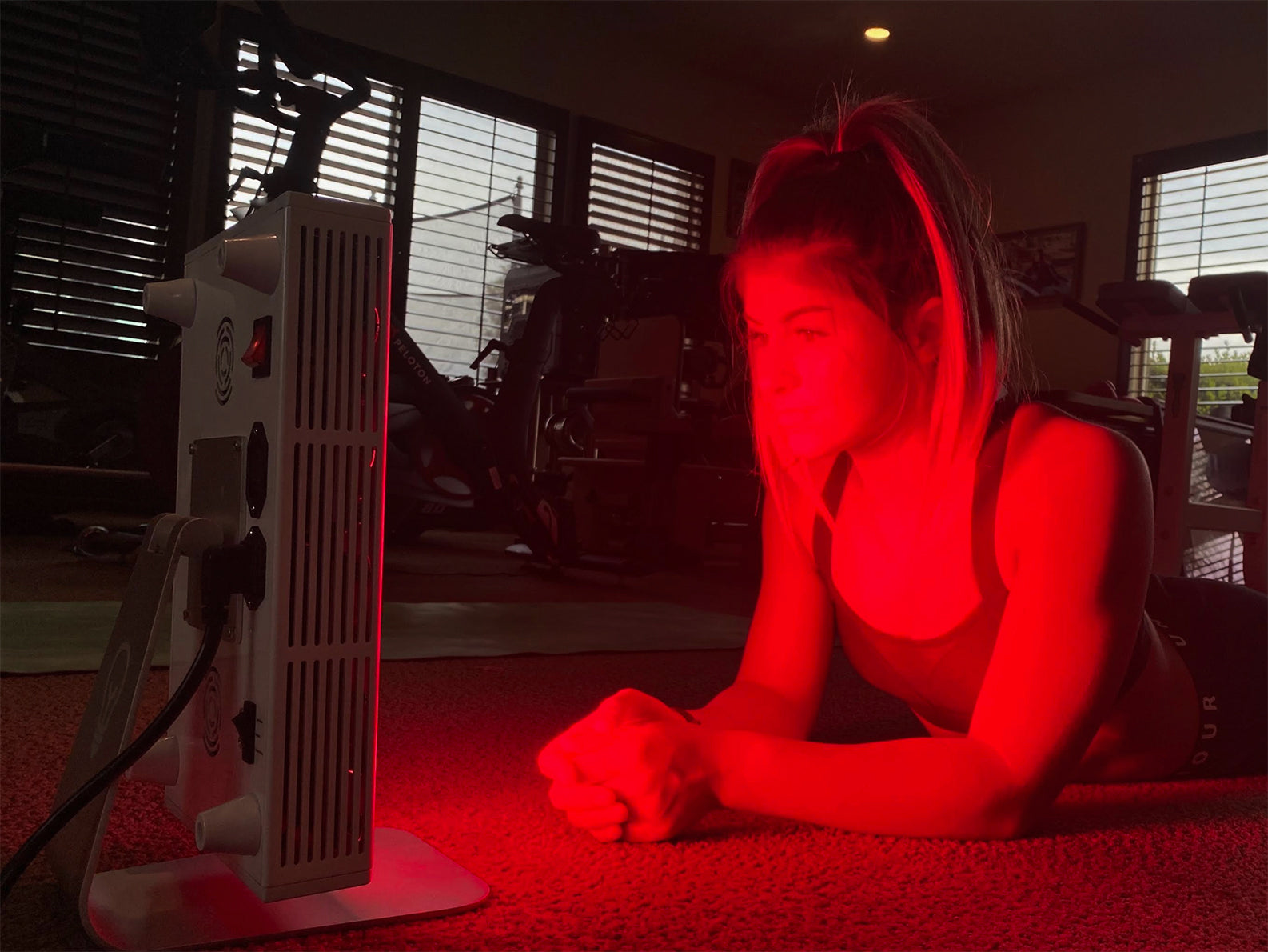 Hailie Deegan uses Joovv light therapy for skin health