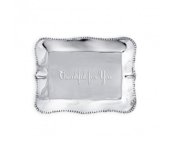 PEARL DENISSE RECTANGULAR ENGRAVED TRAY - THANKFUL FOR YOU
