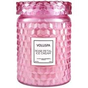 ROSE PETAL ICE CREAM LARGE JAR CANDLE