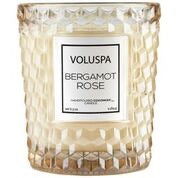 BERGAMOT ROSE TEXTURED GLASS CANDLE