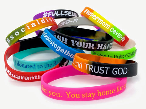 wristbands for charity #coronawristbands