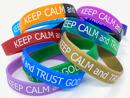 Keep Calm and Trust God Wristband
