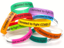 Load image into Gallery viewer, I donated to fight COVID-19 Corona Wristband