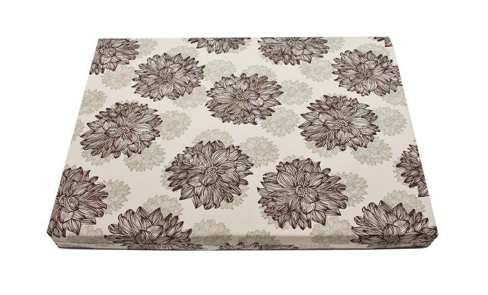 latex orthopedic dog bed in evelyn flower print
