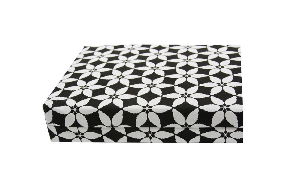 organic cotton dog bed close up black white fabric