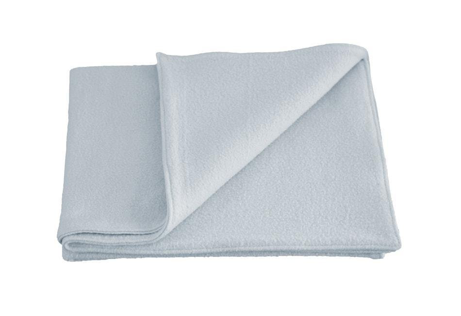 organic cotton light blue fleece dog blanket