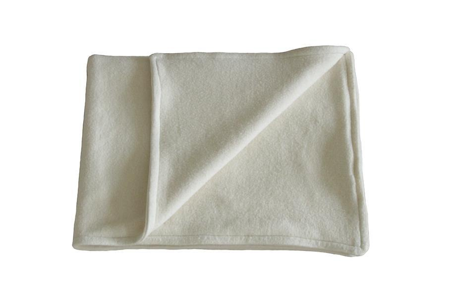 organic cotton fleece dog blanket in beige