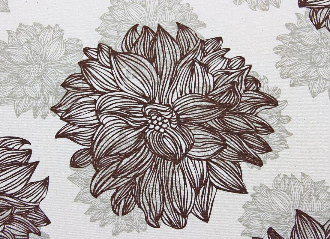 organic cotton evelyn flower print