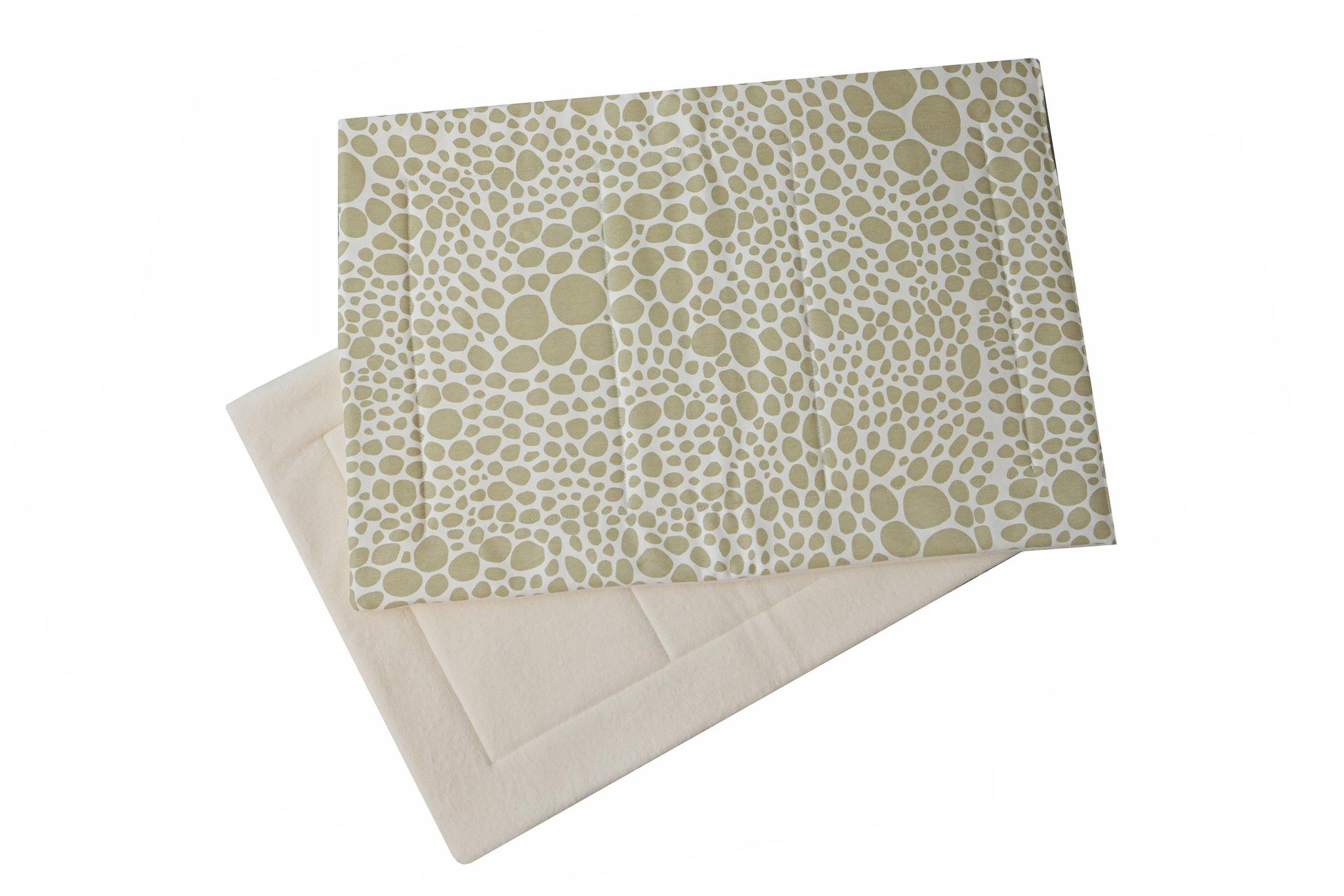 dog crate pads off white and tan pebble pattern